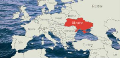 British Council Ukraine on a map of Europe